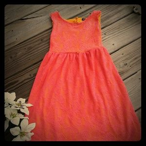 George-Girls pink lace dress